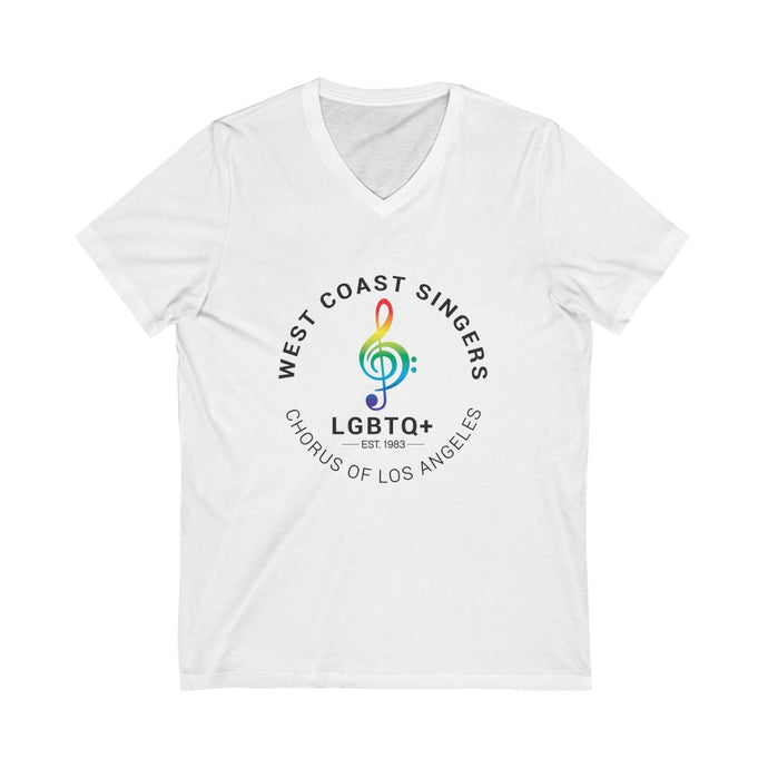 West Coast Singers' Gender-Neutral Jersey Short Sleeve V-Neck Tee