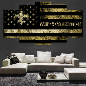 Gold Sport New Orleans Saints Poster Canvas Paintings Wall Art Oil Painting On Canvas For Living Room