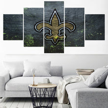 Load image into Gallery viewer, New Orleans Saints Home Decor Picture 5 Panel Canvas Painting Calligraphy  Wall Art