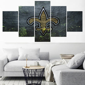 New Orleans Saints Home Decor Picture 5 Panel Canvas Painting Calligraphy  Wall Art