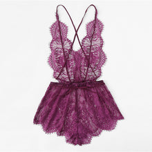 Scallop Eyelash Lace Teddy