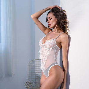 High Cut Lace Bodysuit