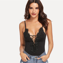 Floral Lace Up Bodysuit