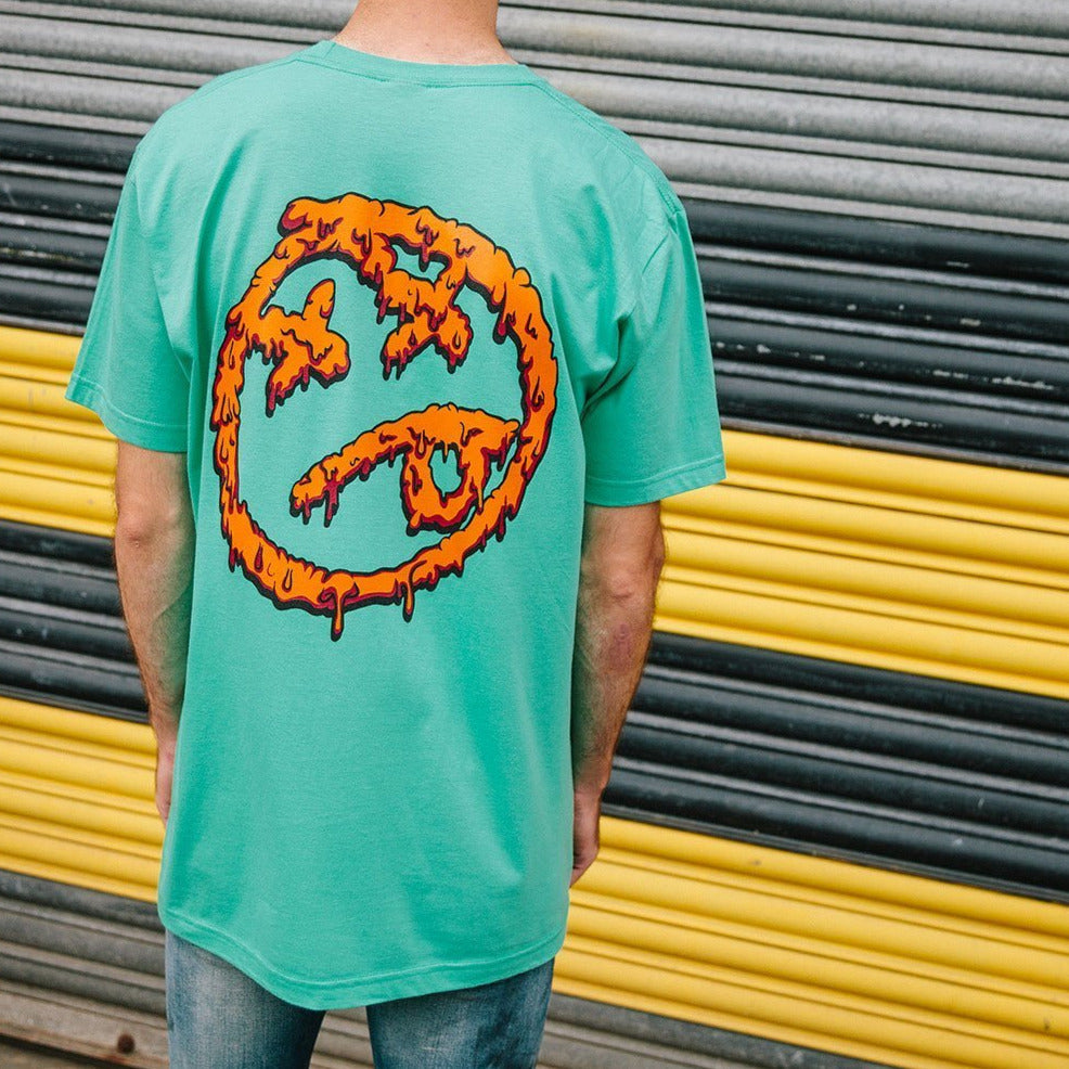 Melting Acid Face TShirt Mint