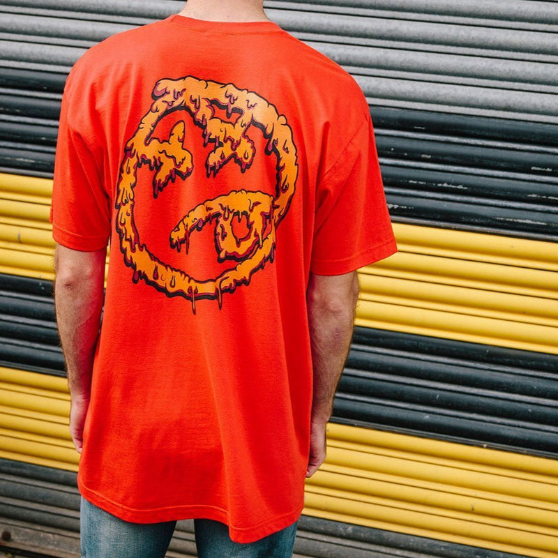 Melting Acid Face TShirt Orange