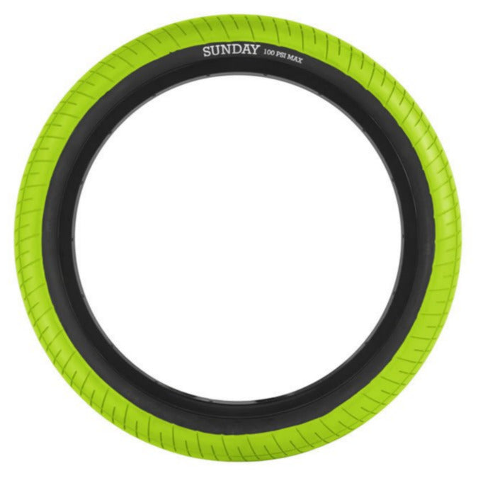 Street Sweeper Tire Green