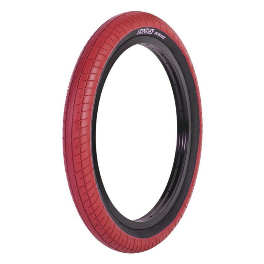 Street Sweeper Tire Red