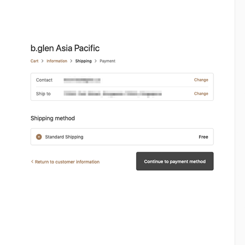 Step 5: Specify delivery address and options