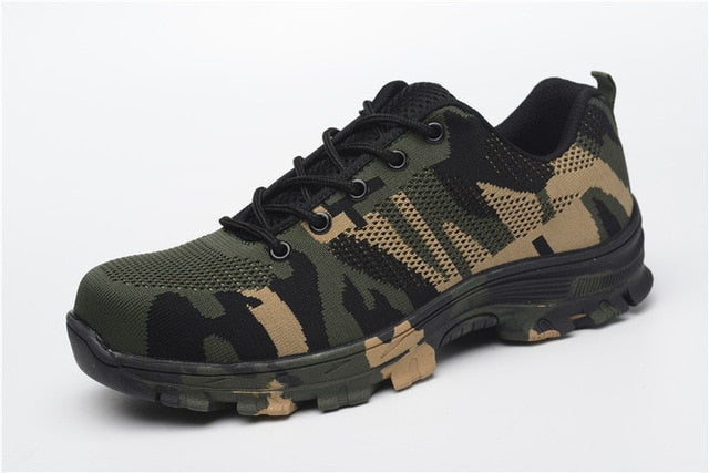 Military Grade Puncture & Acid Resistant Steel Toe Safety Shoes (Camo)