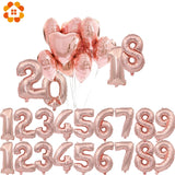 Decoration Rose Gold Number Balloon