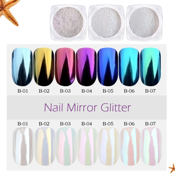 Nail Art Glitter Chrome Pigment