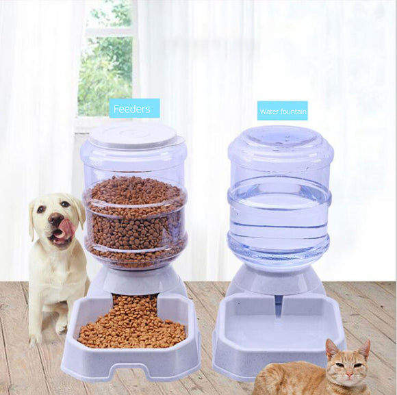 Pet Automatic Feeder Dog Water Bowl Cat Food Dispenser