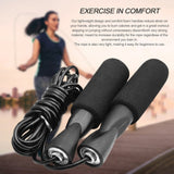 Adjustable Fitness Jump Ropes with Anti-slip Foam