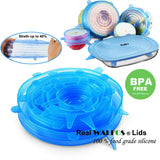 Universal Food Wrap Silicone Lid Set 6pcs/Set