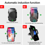 Automatic Infrared Sensor Qi Wireless Car Fast Charger