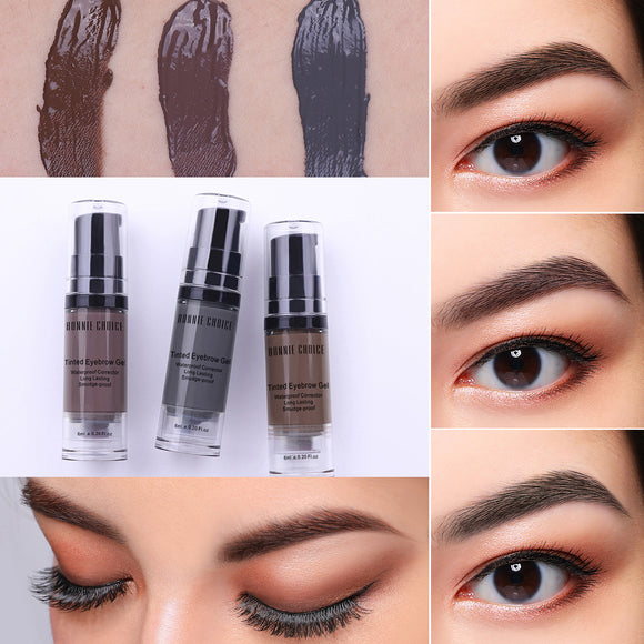 Waterproof Eyebrow Gel Tint Makeup Enhancer Brush