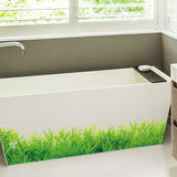 Removable waterproof Green grass Art Wall Sticker