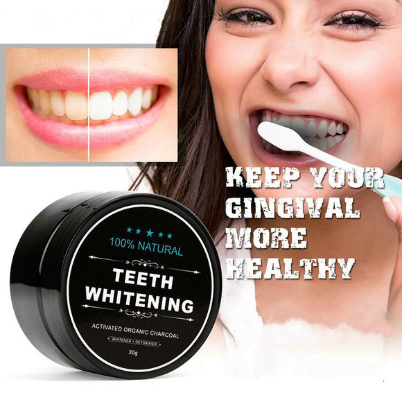 Natural Teeth Whitening Activated Bamboo Charcoal Powder