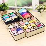Multi-size Organizer Box Closet Storage For Underwear Scarf Socks Bra