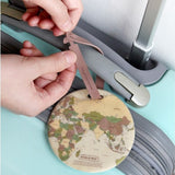 Fashion Map Luggage Travel Baggage Boarding Tag