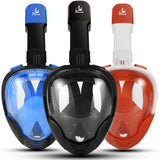 Full Face Snorkeling Masks Panoramic View Anti-fog Anti-Leak