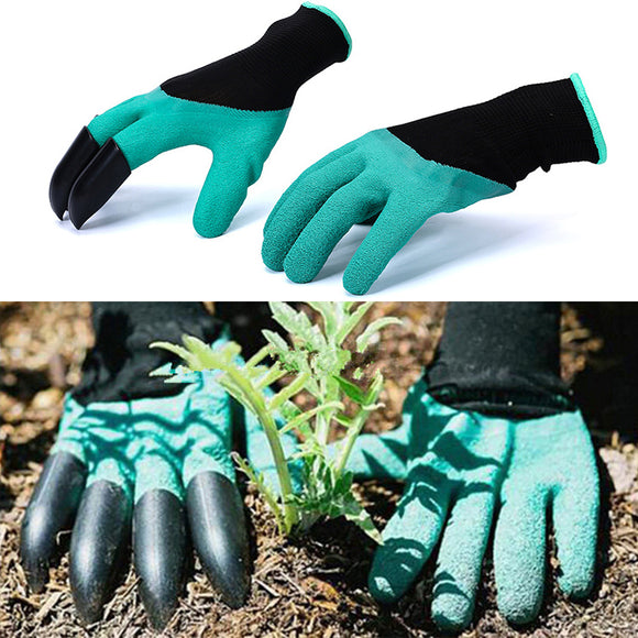 Safe Gardening Digging Gloves With Fingertips Claws