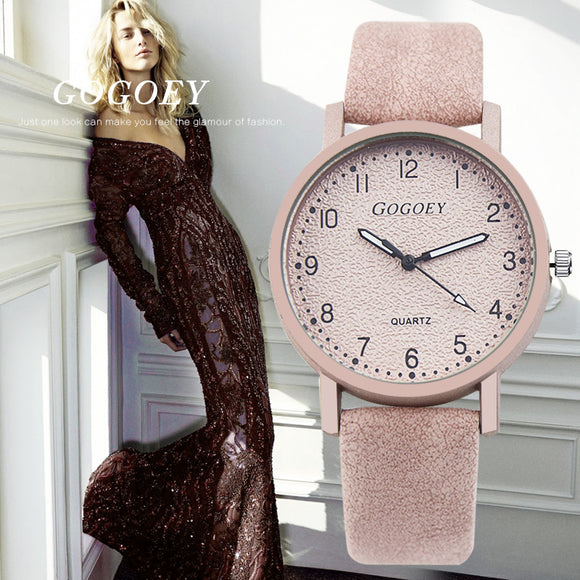 Women's Watches Fashion Leather Wrist Watch
