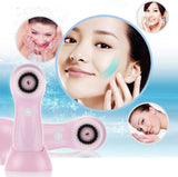 Waterproof Facial Vibrate Soft Cleaner Massager