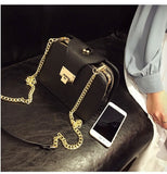 Fashion Women Multi-layer Shoulder Bag With Metal Buckle