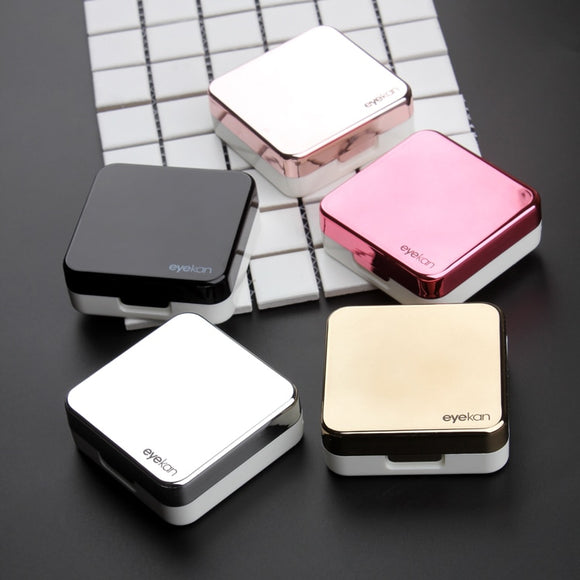 Reflective Cover contact lenses case With tools set