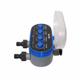 Electronic Two Outlet Four Dials Water Timer Gardening Irrigation System