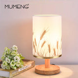 Modern Wood Table Lamp Bedroom Bedside Lamp