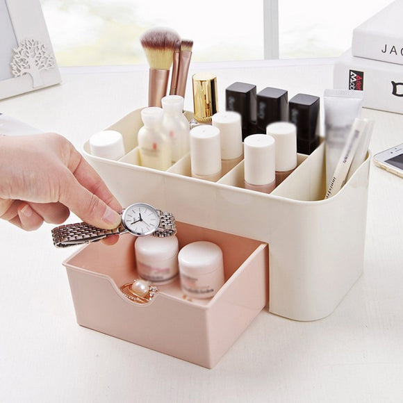 Makeup Necklace Nail Polish Earring Box Organizer