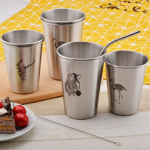 Stainless Steel Juice Beer Water Cup Juice Mug
