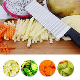 Stainless Steel Fruits and Vegetables Wave Knife