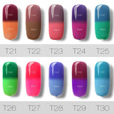 Temperature changing Chameleon Gel Nail Polish
