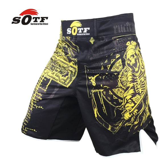 Man's Printed MMA shorts boxing shorts trunks