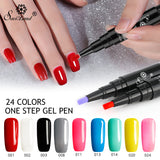 Newest 3 In 1 One Step Gel Nail Varnish Pen