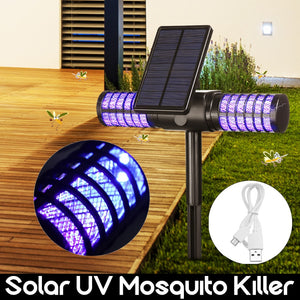 Solar Charge Mosquito Killer With UV Lamp Mosquito Repellent For Garden