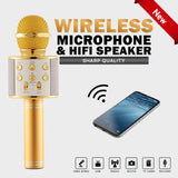 Bluetooth Wireless Karaoke Handheld Microphone