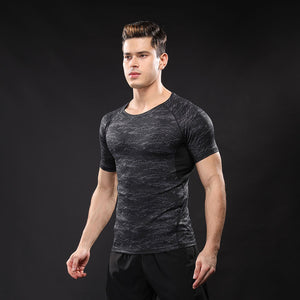 Bodybuilding Clothing Fitness Compression T-shirt