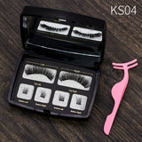 Magnetic handmade natural eyelashes set
