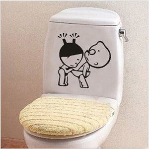 Waterproof Toilet Home Decoration Bathroom Wall Stickers