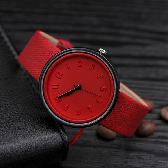Unisex Candy Color Simple Number Watches