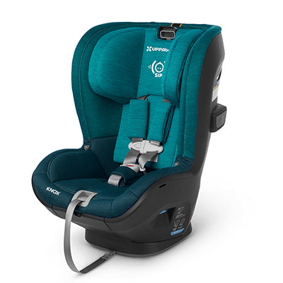 Teal UPPAbaby Knox convertible car seat, set against a white background