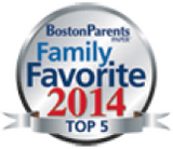 BostonParents Family Favorite 2014 Top 5 award logo