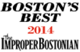 Boston's Best 2014 from the Improper Bostonian award logo
