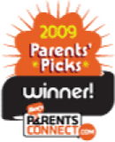 ParentsConnect.com 2009 Parents' Picks Winner award logo
