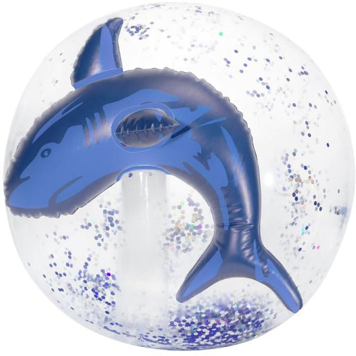 3 Cheers for Girls 3-D Confetti Beach Ball - Shark
