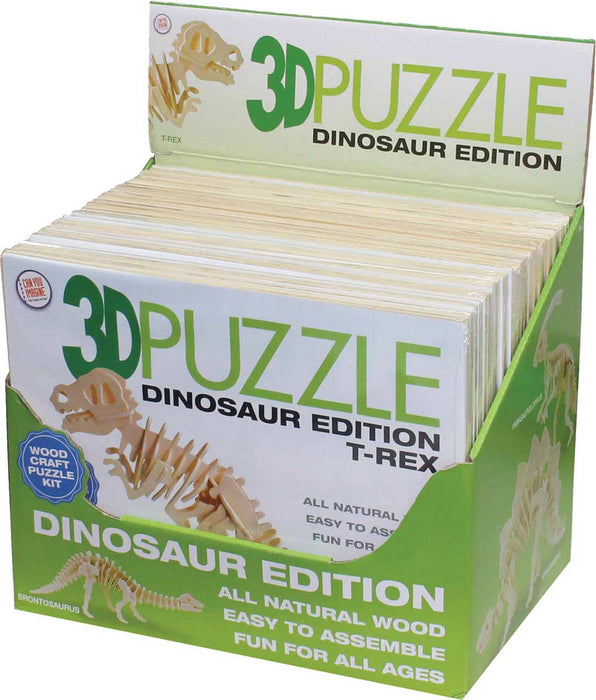 3D Wooden Dinosaur Puzzle  1 Puzzle Ships Assorted